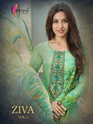 Printed Embroidary Suit ZIVA VOL 1
