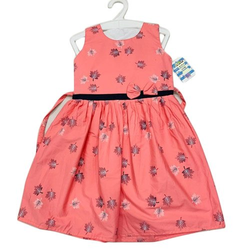 Cotton Casual Wear Pink Kids Frock, Age: 1 To 12 Year