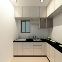 Residential L Shaped Modular Kitchen