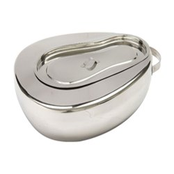 FBBPL1 Stainless Steel Bed Pan with Lid