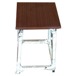 Raj Furniture Brown Wooden Stool, For Seating, 18 Inches
