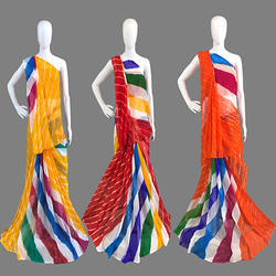 Nazmeen Chiffon Leheriya Printed Saree