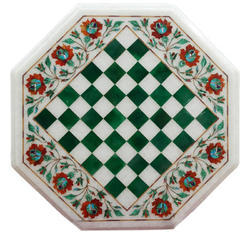 Marble Chess Set with Table Top