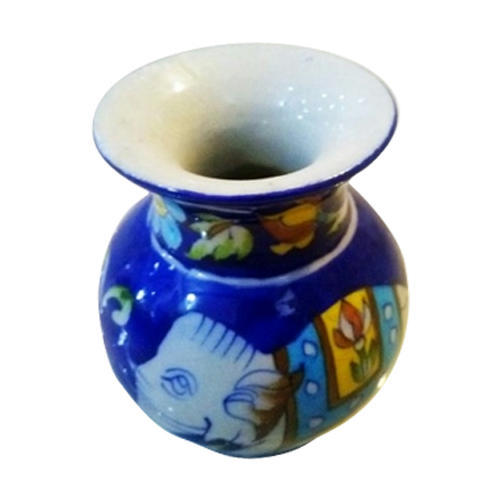 Blue Round Designer Pot