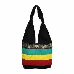 Striped Print Tote Bag