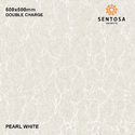 Pearl White Double Charge Vitrified Tile, Size (in Cm): 60 * 60