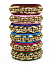 multicolor Handmade Silk Thread Bangle
