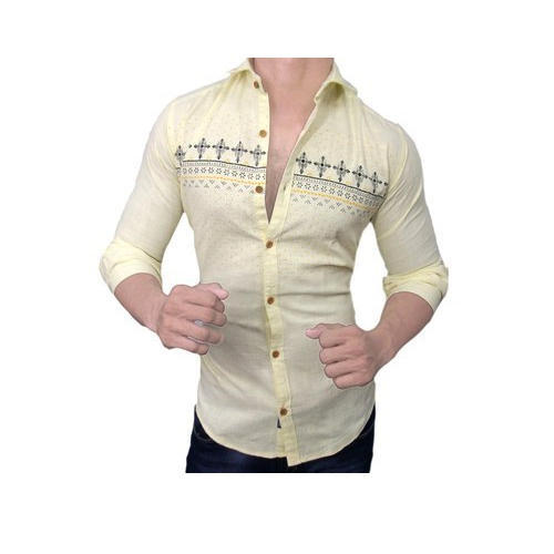 76c593d8140 Full Sleeves Cotton Designer Printed Shirts