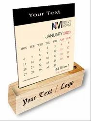 Customized Desk Calendar Printing with Wooden Stand