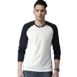Mens Full Sleeves Blank Cotton T Shirt