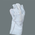 White Leather Welding Safety Gloves