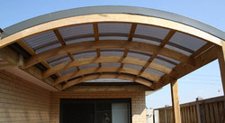 Curved Rafter Building Frame