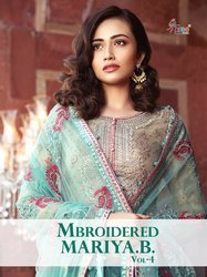Shree Fab Mbroidered Mariya.b Vol 4 Pakistani Embroidery Salwar Kameez
