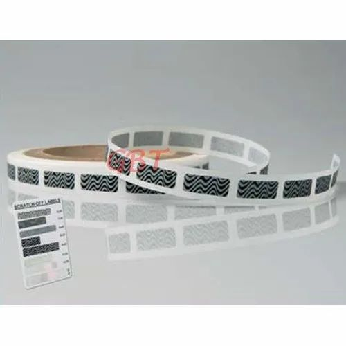 Scratch Off Label, Size: 8x38mm, Packaging Type: Roll