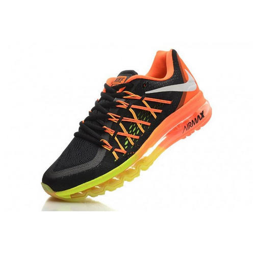 Nike Air Max 2015 Black Green Orange Shoes