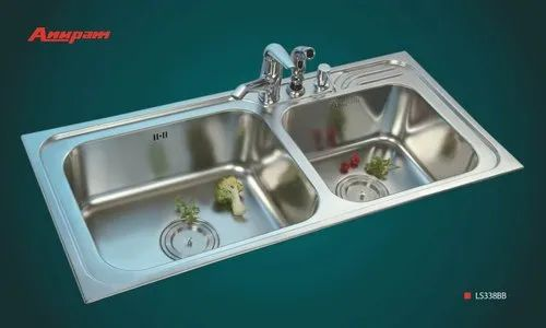 Anupam Glossy Stainless Steel Kitchen Sink Rs 17990 Set