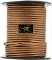 Metallic Round Leather Cord -Bronze