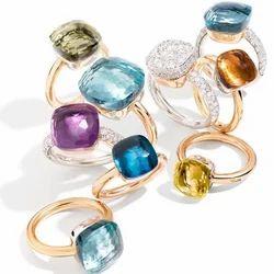 Pomelleto Ring Simple But Heart Touching Cushion Toplet Designer Rings