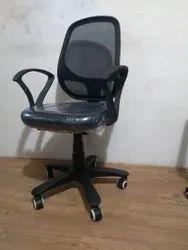 Black Fabric Revolving Office Chair