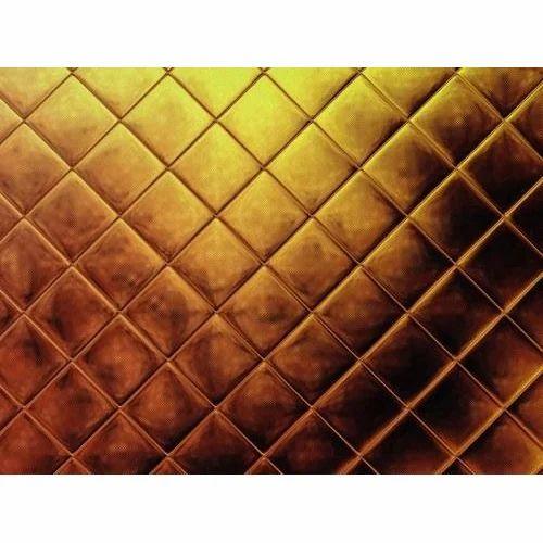 3d Golden Tiles Wallpaper