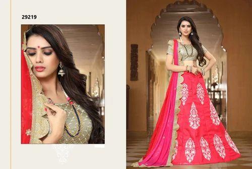 391e867ff Urban Naari Semi-Stitched Indian Wedding Lehenga Choli, Waist Size: Up to 42
