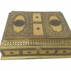 Available In Silver,Blue,Red Wooden Quran Rehal Box, Size/Dimension: 12x9,13x10 Inch