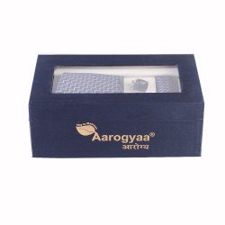 3 Pc Men's Blue Waves Aarogyaa Micro Jacquard Silk Tie Neck Set Cuff Links Scarf Party Neck tie