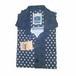 Denim Printed Mens Shirt