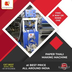 Fully Automatic Roll to Thali Making Machine