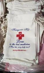 Casual Cotton & Jute Hangover Kit Potli Bag