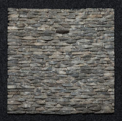 Black Granite Strip Pattern Wall cladding