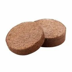 Coco Peat Disc, Round, Packaging Type: Cotton Box