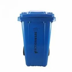 100 Ltr Plastic Square Wheel Dustbin