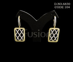 American Diamond Hanging Earrings