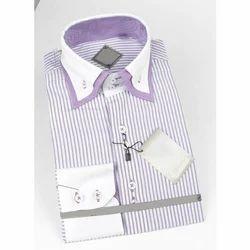 Inericc Mens Striped Formal Shirt