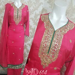 Silk Party Wear Suits W-614