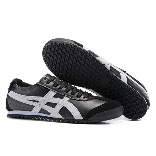 610f3df7ae0c PVC   PU Black And White Onitsuka Tiger Mexico 66 Shoe