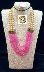 Cl Code Assorted Coluor Antique Beads Multilayer Tumble Costume Fashion Jewellery Necklace