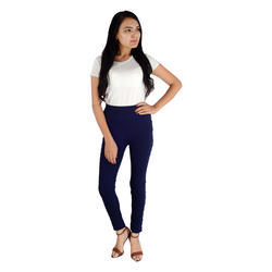 Navy Blue color Side white moti with pearl leggings