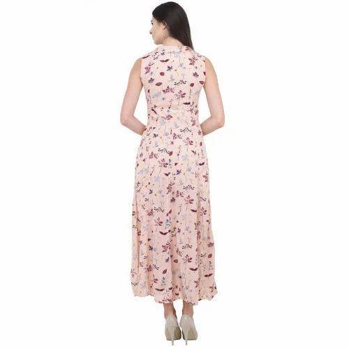 9353ca6ff Chiffon Party Wear Ladies Floor Length Western Dress