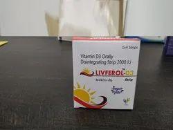 Vitamin D3 Orally Disintegrating Strips (Oral Films)