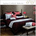 Applique Cut Work Bed Spread