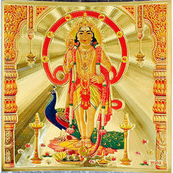 Murugan Poster in Gold Foil 24K