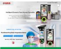 Touchless Body Temperature Scan Face Reader Iris Biometric Attendance Machine & Thermal Mask Reader