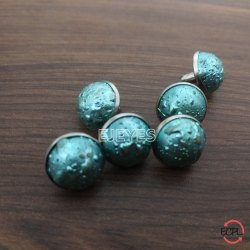 12mm Steel & Stone Stone Rivets Blue