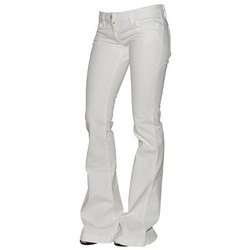 White on Ladies Stretchable Jeans
