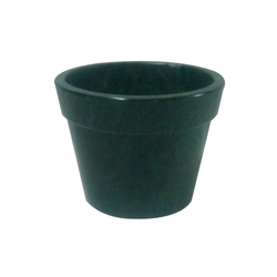 Natural Green Round Marble Flower Vase