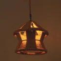 Designer Iron And Rope Lamp