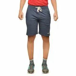 Old Sprit Solid Men Blue Basic Shorts