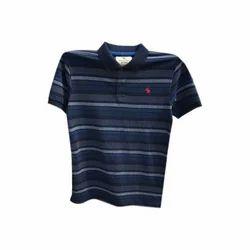 Medium And XL Cotton Mens Collar Neck T Shirt